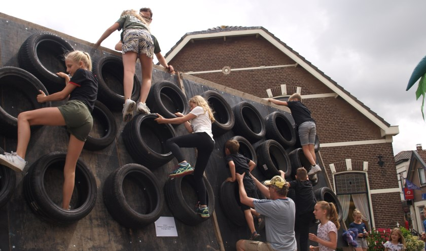 Klimmen en klauteren in Sportwijkerhout. | Foto: Piet de Boer.