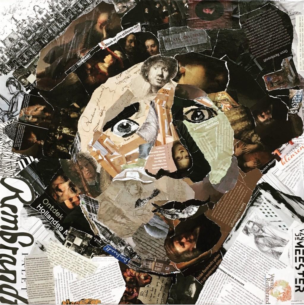 Collageportret van de jonge Rembrandt. | Foto: pr.