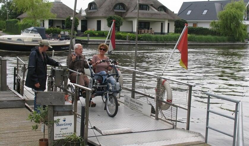 De fietstocht 'Rondje brug-Pontje' is populair voor de duofietsers. | Foto: pr.