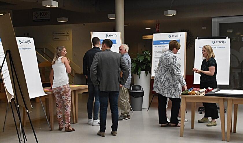 Inwoners van Katwijk konden hun woonwensen delen tijdens informatie bijeenkomsten.