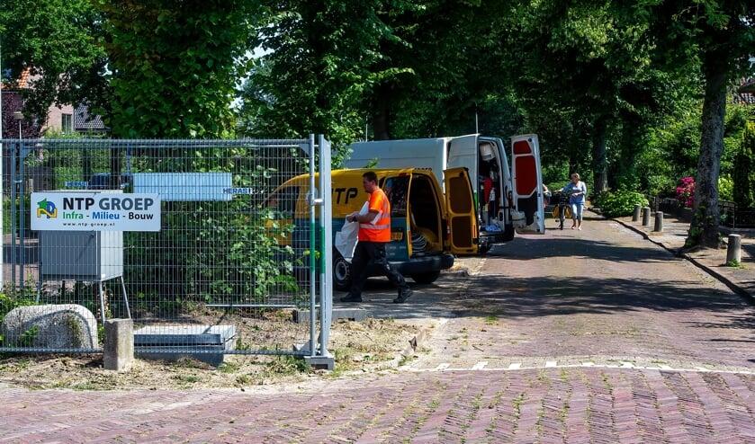 Woensdag 17 juli is de stalen groene keet met de saneringsinstallatie aan de Hoogmadeseweg verwijderd.
