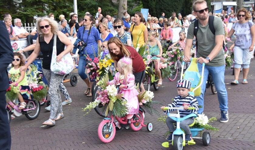 Het Kindercorso in Rijnsburg trok vanmorgen veel bekijks.