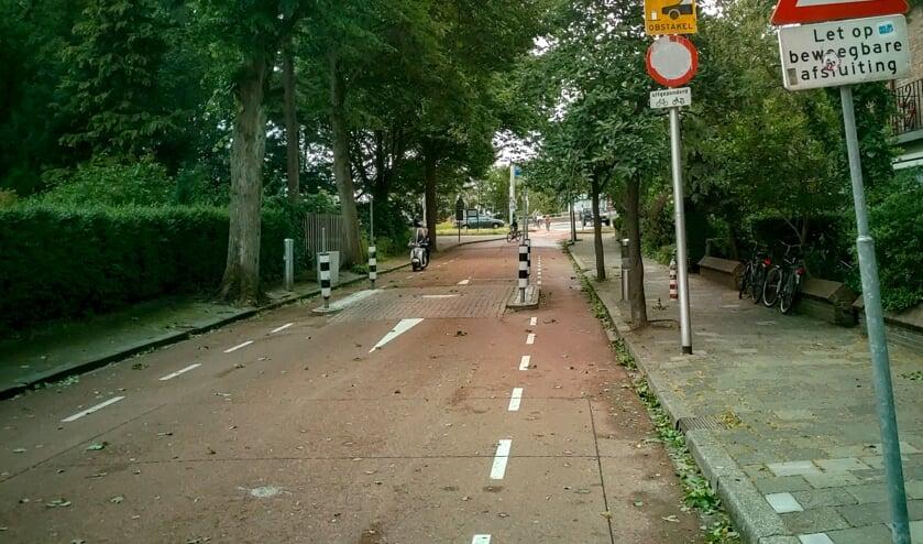 De bussluis aan de Splinterlaan.