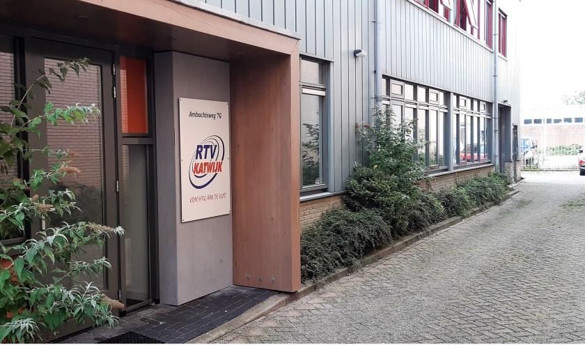 De nieuwe studio van RTV Katwijk aan de Ambachtsweg in 't Heen.