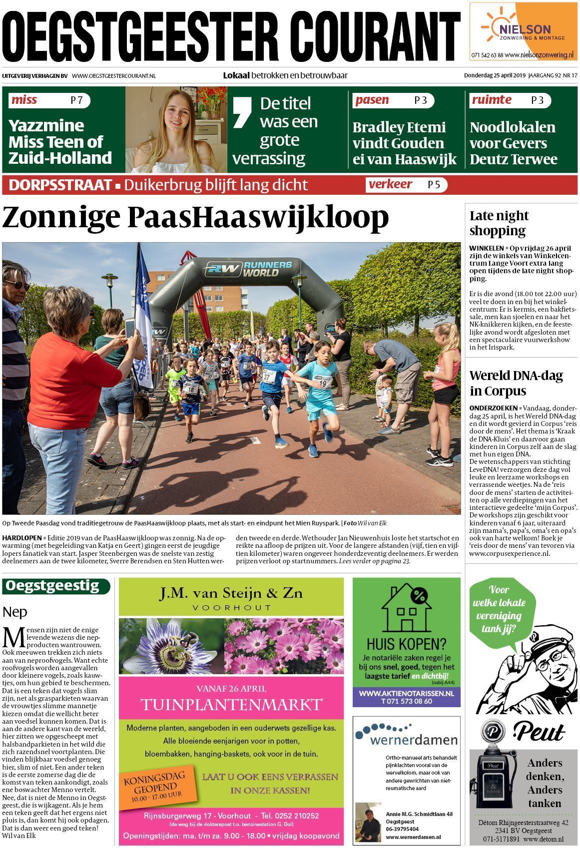 bac9fc365d5 Oegstgeester Courant 25 april 2019
