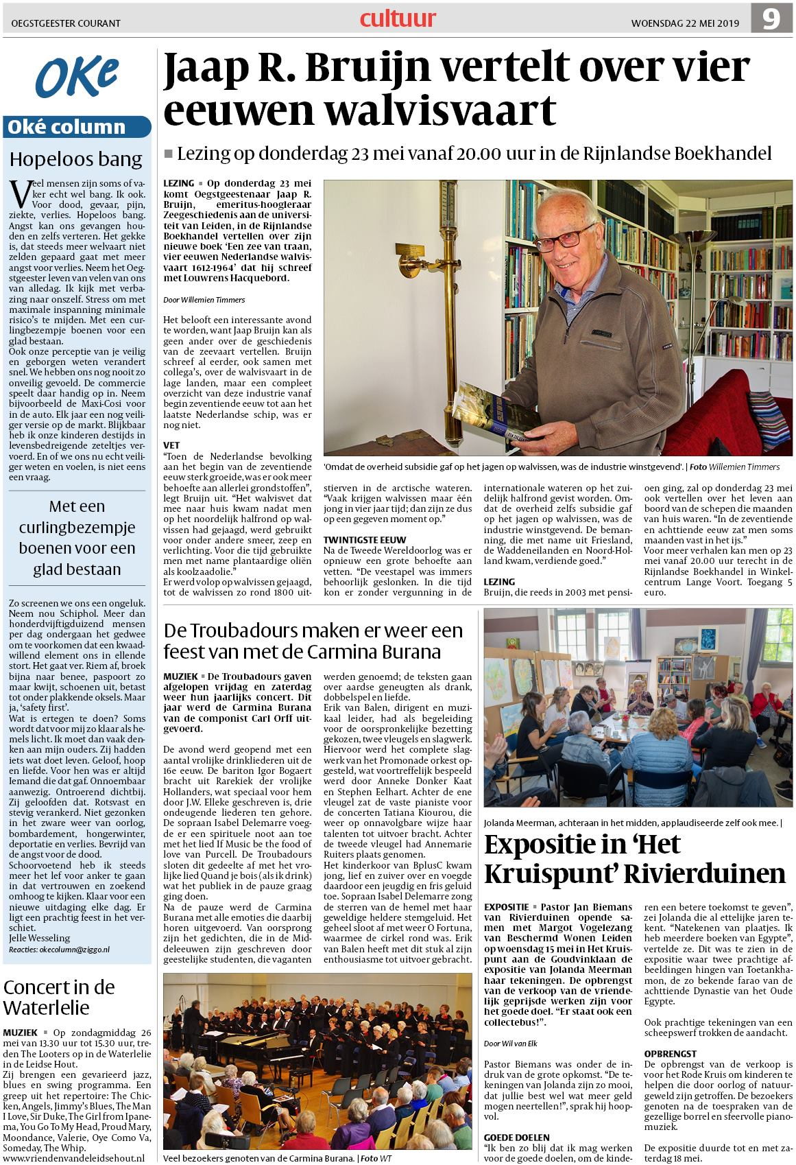 cc3a5d0aaadee3 Oegstgeester Courant 22 mei 2019