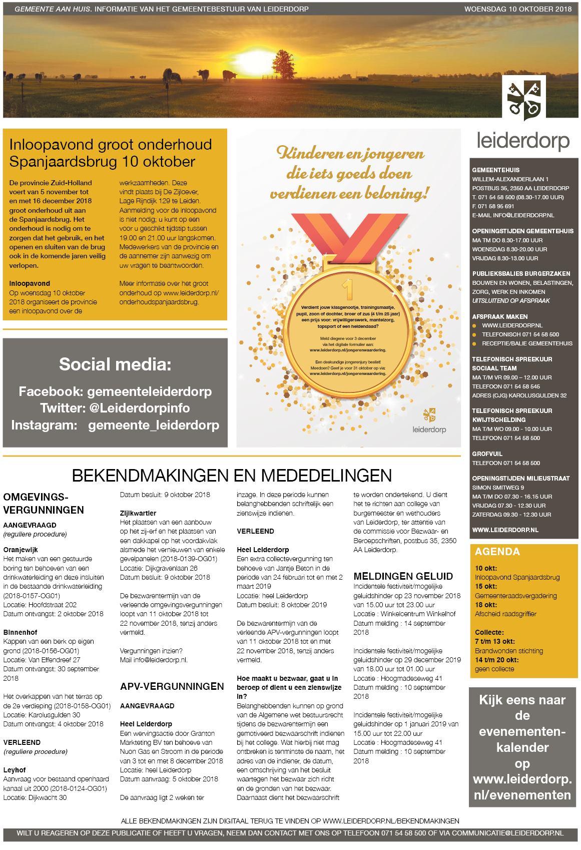 Leiderdorps Weekblad 10 Oktober 2018