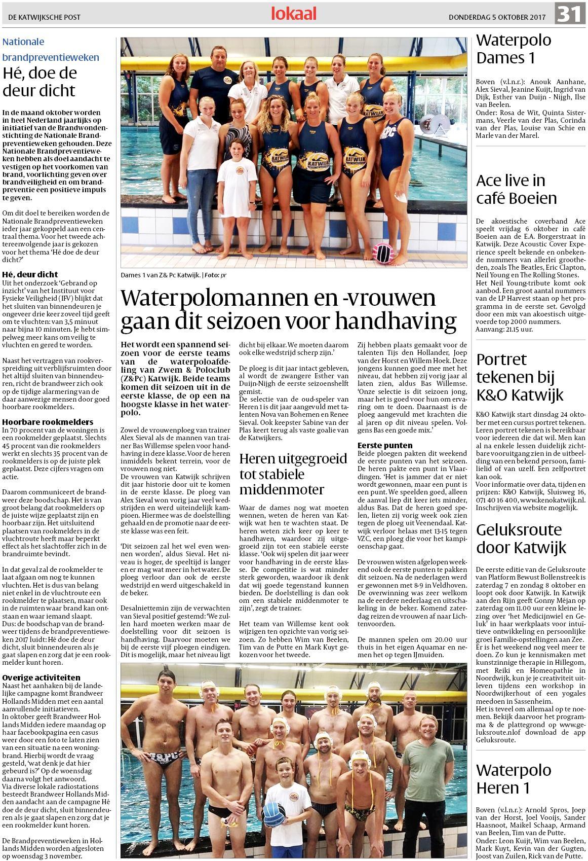 a9e222fb9a1 De Katwijksche Post 5 oktober 2017