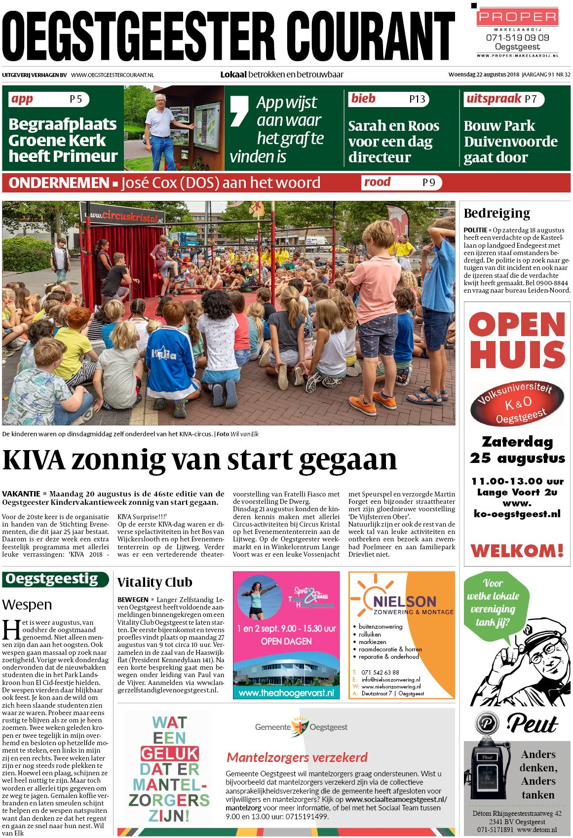 b5aee855f32 Oegstgeester Courant 22 augustus 2018