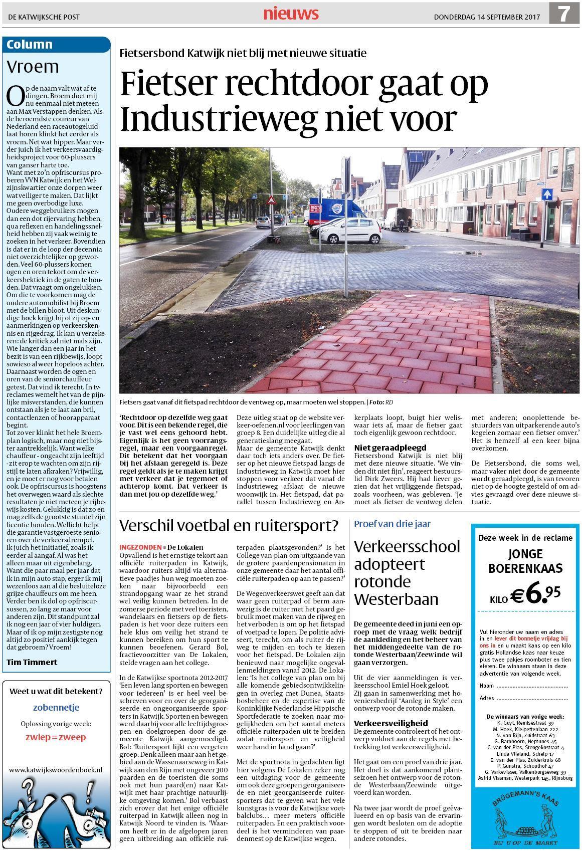 e35ecce6900 De Katwijksche Post 14 september 2017