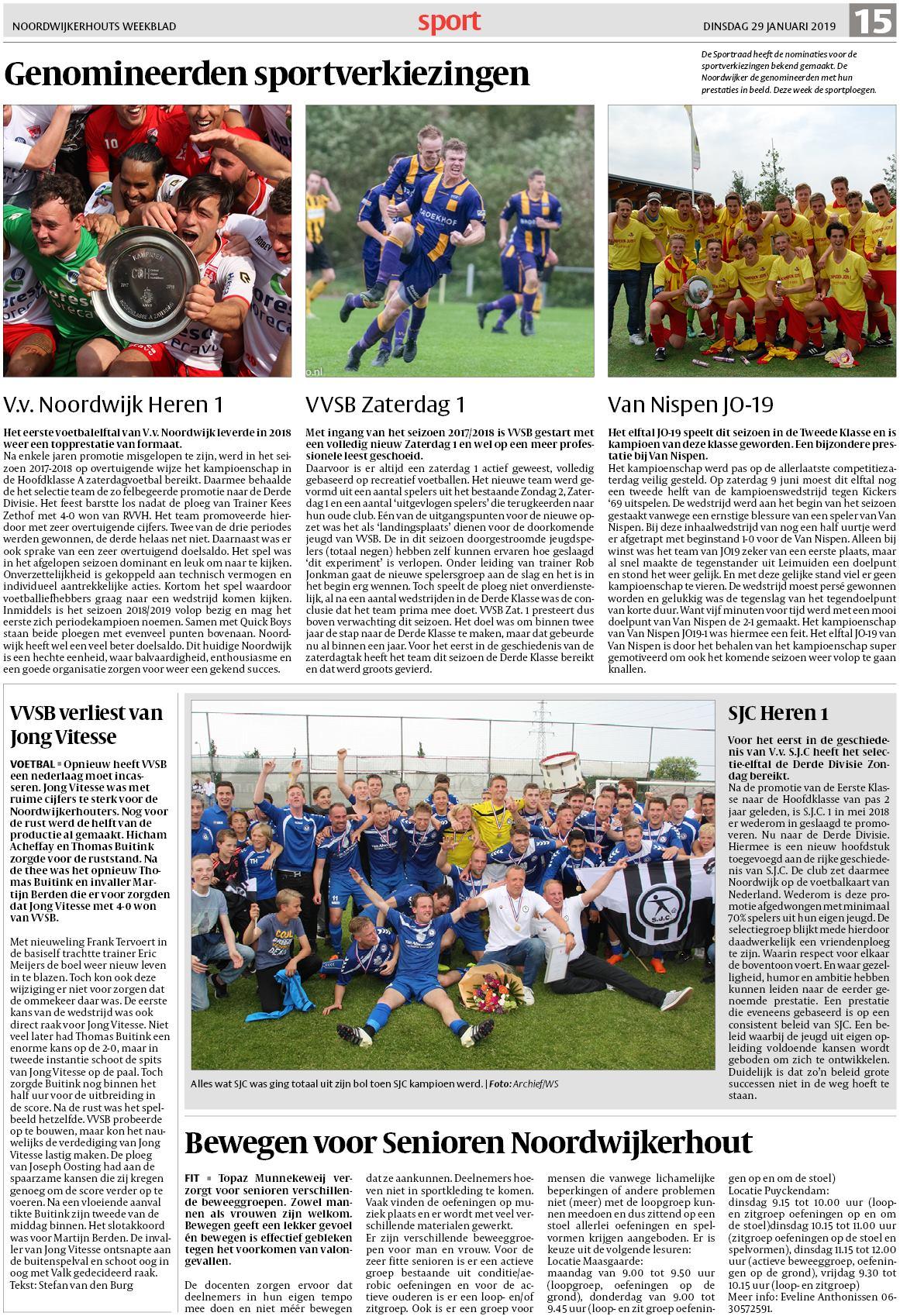 ba7ca7074f0 Noordwijkerhouts Weekblad 29 januari 2019