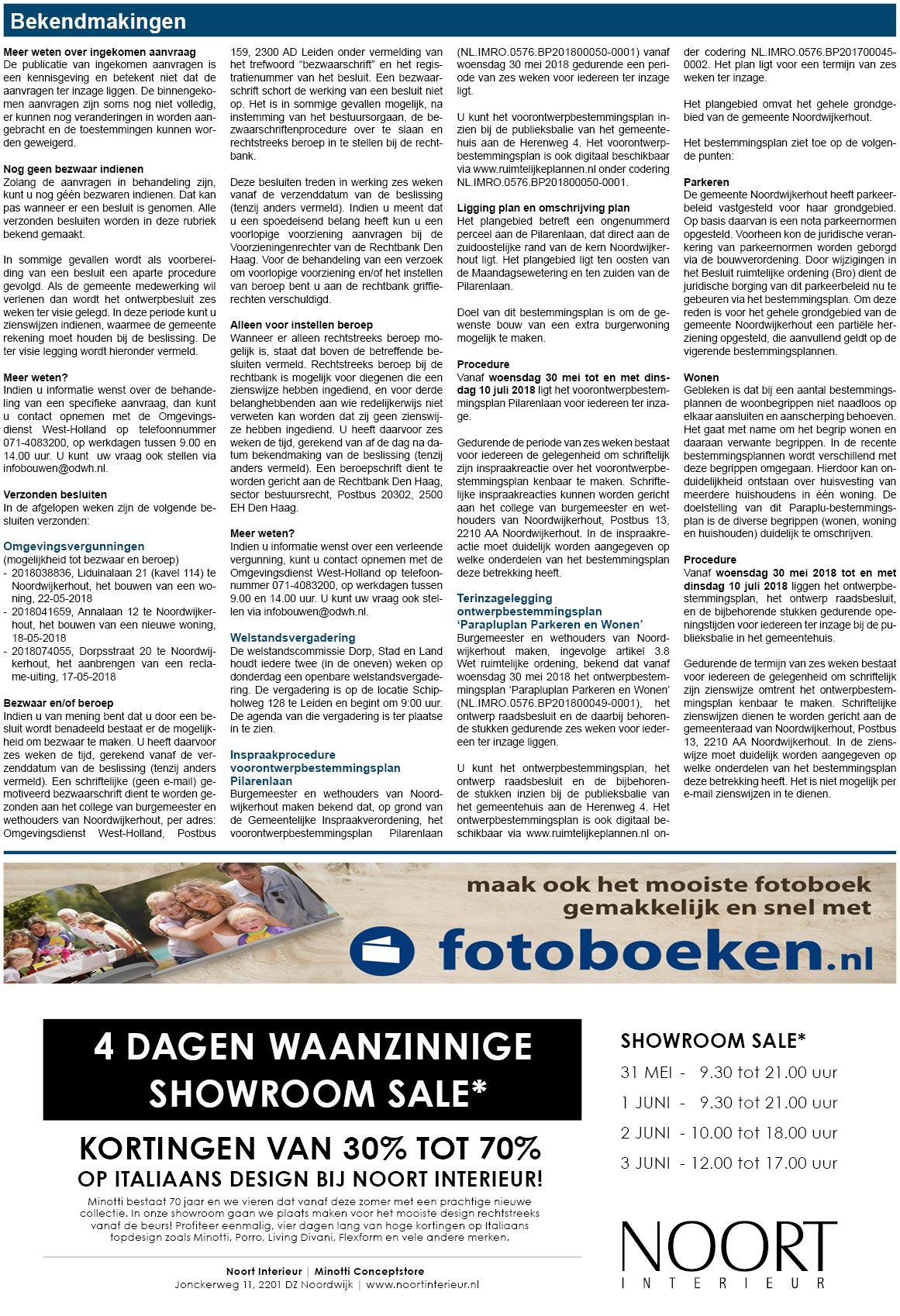 Noordwijkerhouts Weekblad 29 mei 2018