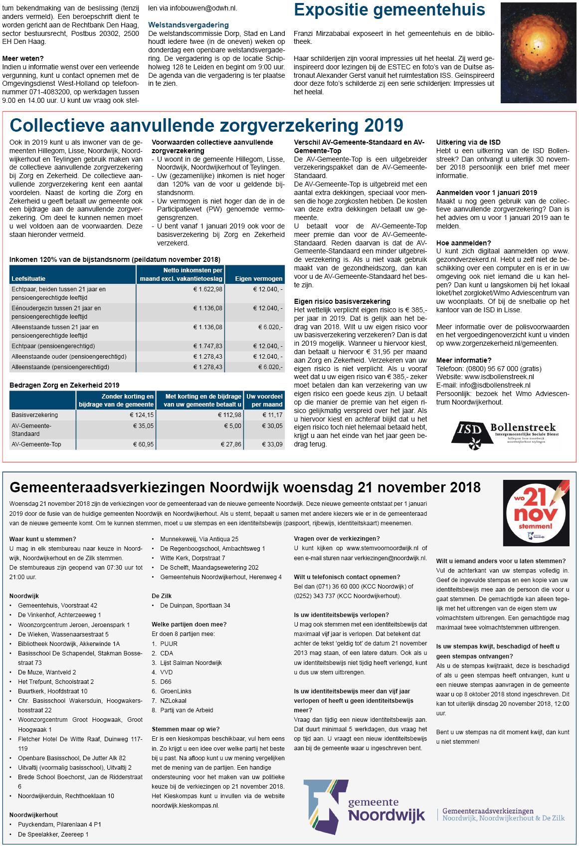 Kleurplaten Ruimtestation.Noordwijkerhouts Weekblad 20 November 2018