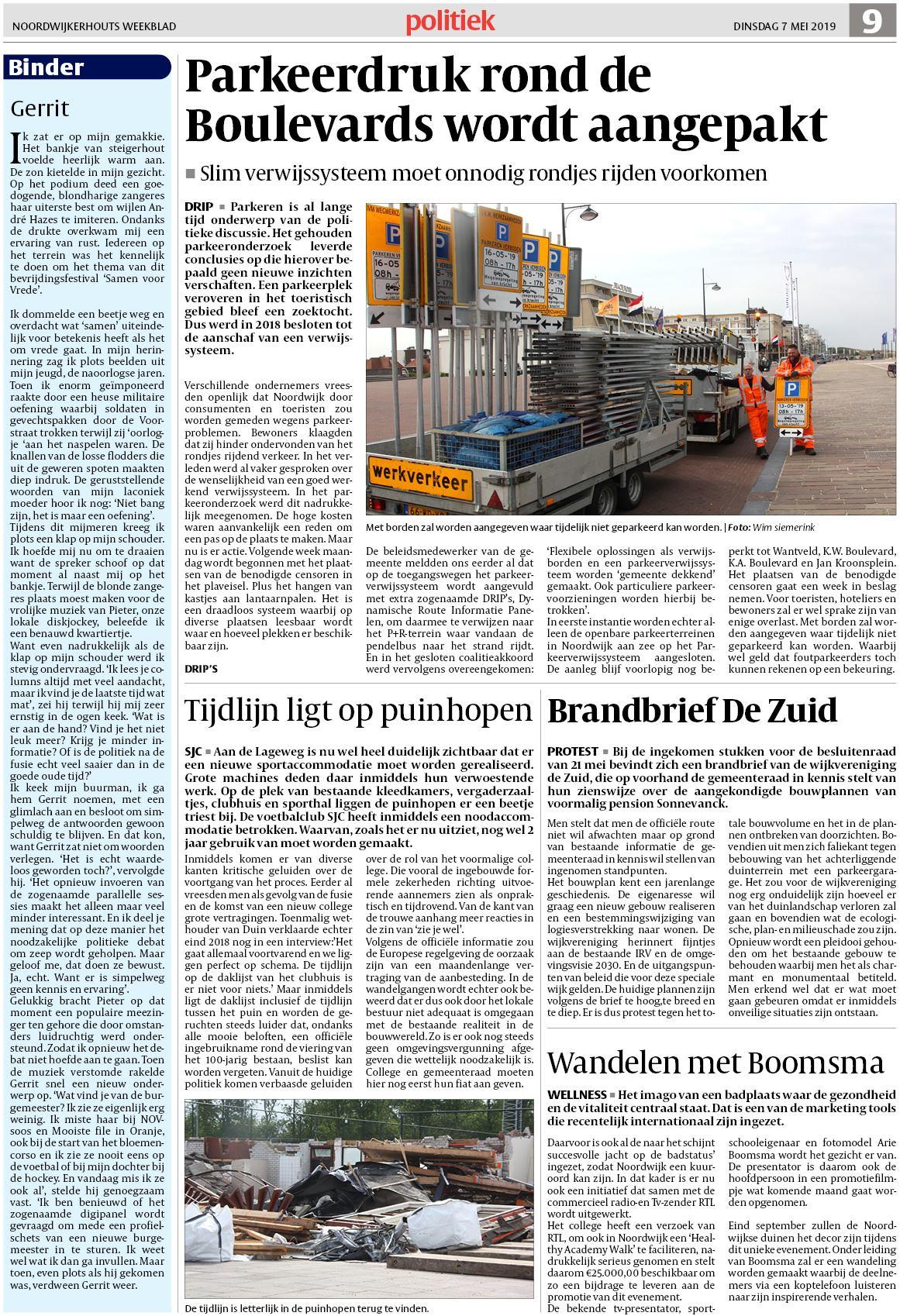 Boeren Bankje Van Steigerhout.Noordwijkerhouts Weekblad 7 Mei 2019