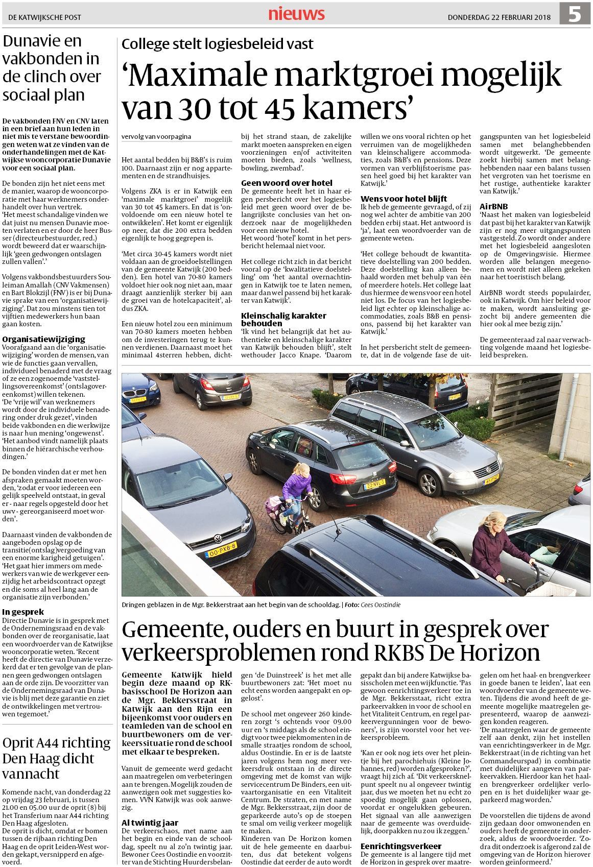 De Katwijksche Post 22 februari 2018