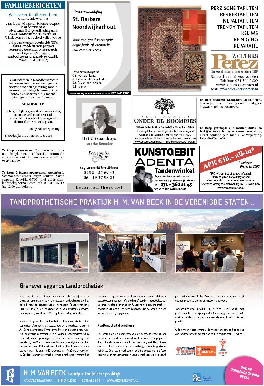 Noordwijkerhouts Weekblad 15 November 2016