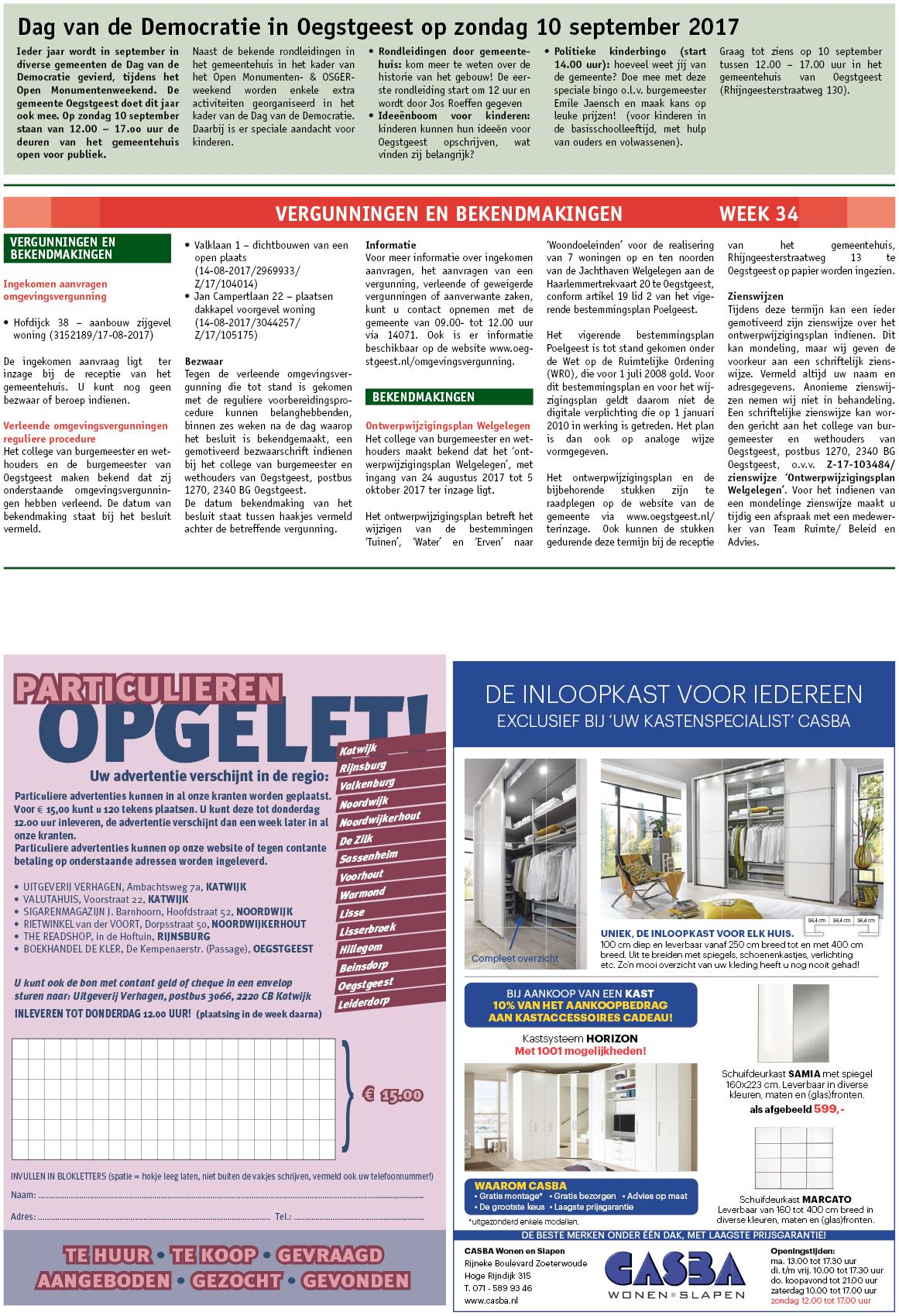 Oegstgeester Courant 23 Augustus 2017