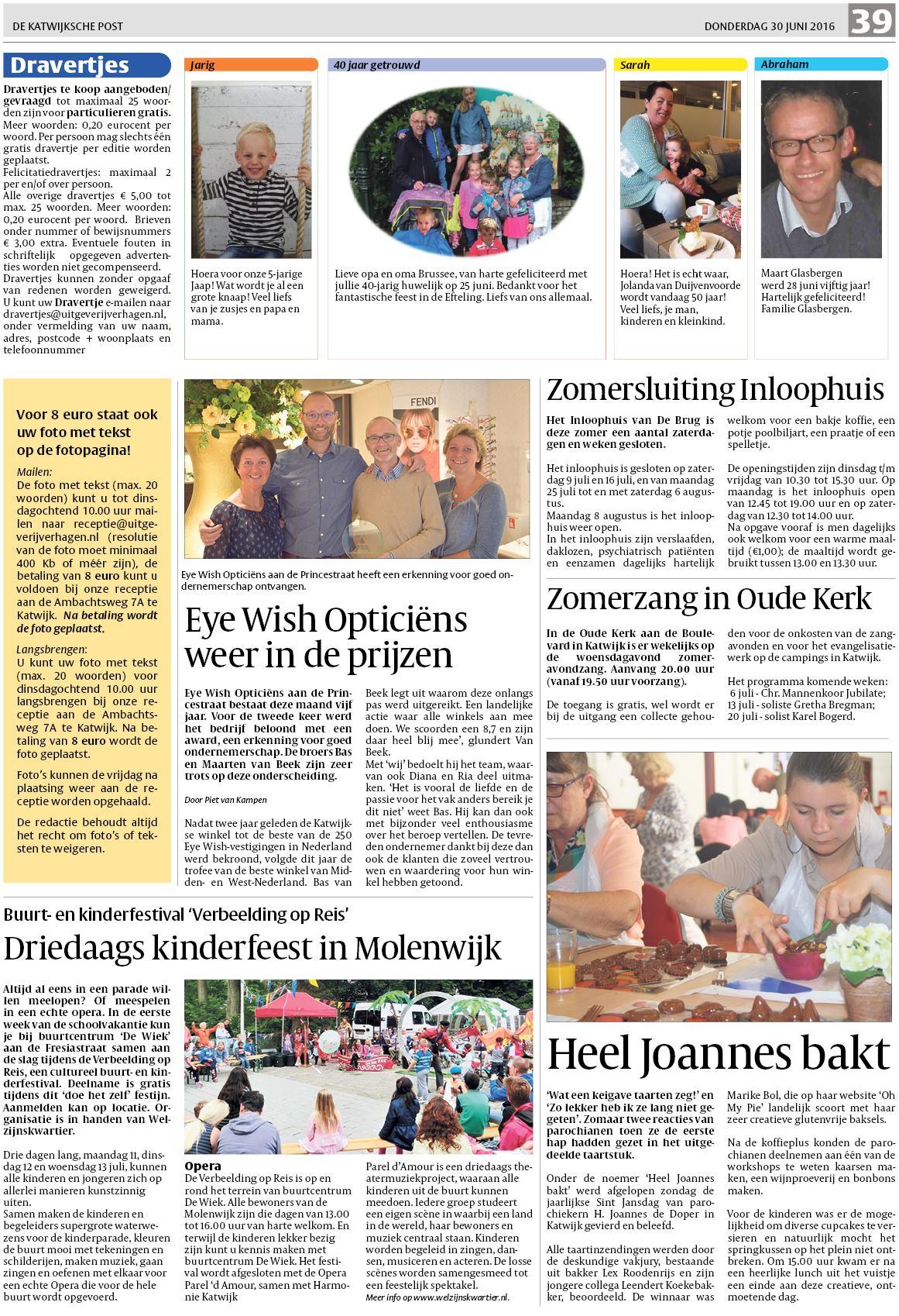 f16664dd6b9cb6 De Katwijksche Post 30 juni 2016