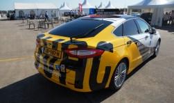 Met deze opgepimpte Ford Mondeo wilde BOVAG Rijscholen het nieuwe BGF onder de aandacht brengen. Dat gaat voorlopig niet door.