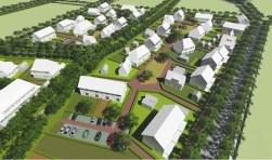 Het oorspronkelijke plan voor de groene wijk Aarle