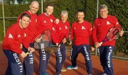 vlnr :, René Theelen, Herman Nolte, Bart Bielars, Adri Liebregts, Bart Withagen en Jo Dammers
