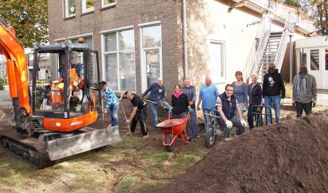 Er werd flink gewerkt afgelopen zaterdag (Foto, Cor Delissen)