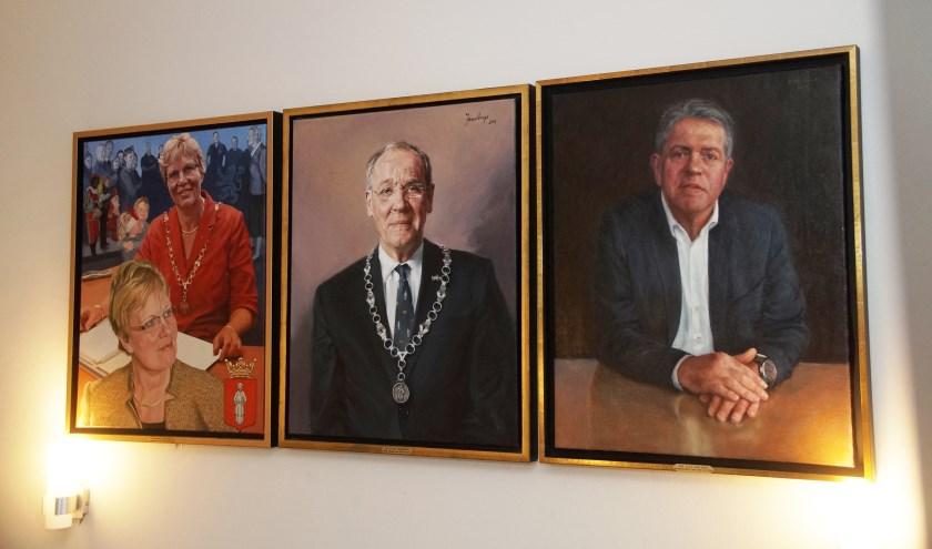 De drie burgemeester van de laatste vijftien jaar (Foto, Cor Delissen)