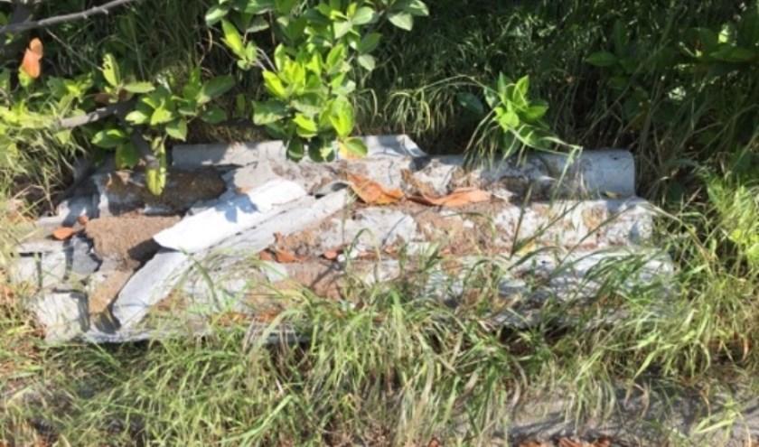 Er wordt veel afval gedumpt in het buitengebied