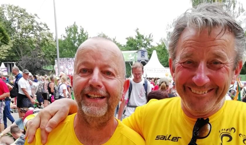 Bestenaren Rob Frankhuizen en Vincent Bakx hebben de vierdaagse van Nijmegen gelopen en goed afgesloten.