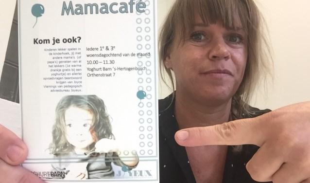 Joyce Vlamings is initiatiefnemer van het Mamacafé in 's-Hertogenbosch