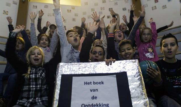 Leerlingen van Jenaplan Kindcentrum de Ontdekking in 's-Hertogenbosch-West. Foto: Niek Geneuglijk