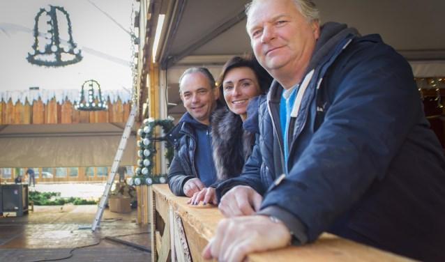 Jos Roels, Nicole Vermolen en Frank Vale, medebestuurders van stichting Winterland 's-Hertogenbosch, maken zich hard voor een sfeervol Bosch winterevenement. Foto: Niek Geneuglijk