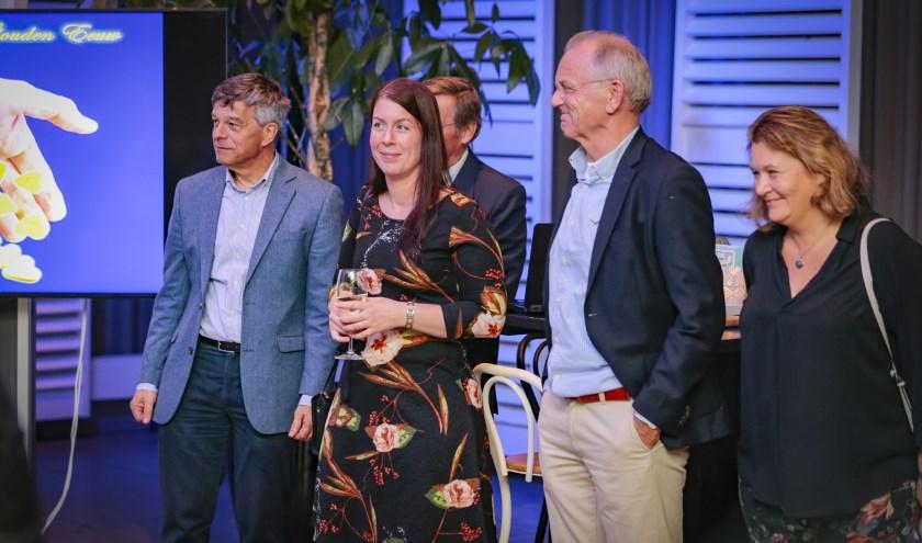 De commissie Filantropie, presenteerde onlangs hun plannen. Vlnr - Arnold Veldman, Daniëlla Nijman, Ruurd Verdam, Emiel Felix en Anne-Marie van Eeten. Foto: Joell Eskens