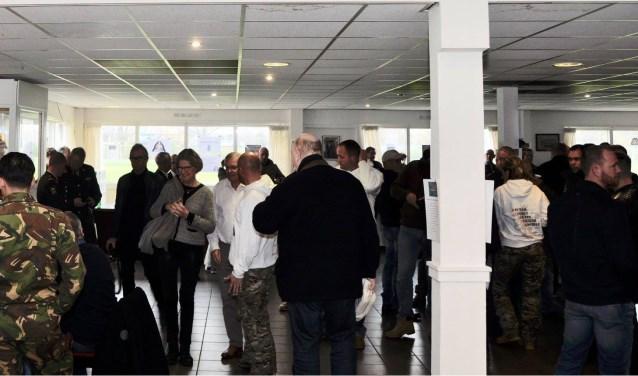 Een bijeenkomst in het huidige onderkomen van Stichting Ouwestomp afgelopen november wegens promotie van het boek van Marco Kroon