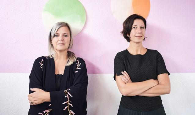 Petra Janssen en Simone Kramer vormen de drijvende kracht achter Social label. Foto: Rene van der Hulst