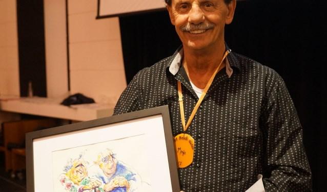 Winnaar Grôôt Bosch Dictee 2017: Gérard van Kessel. Foto: Gerard Monté