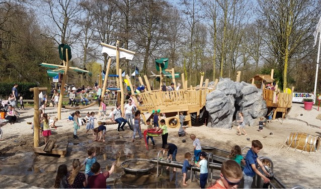 Kinderen konden de afgelopen weken al genieten van het splinternieuwe piratenschip