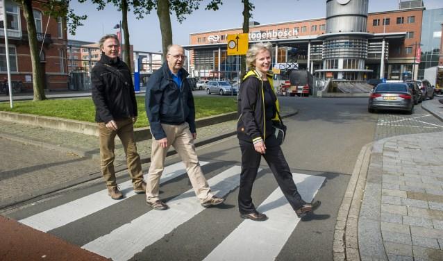 V.l.n.r. Maarten Sterneberg, Rijkert Knoppers en Marie José van der Linden. Foto: Olaf Smit
