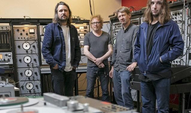 De mannen van de gesubsidieerde studio's in de Toonzaal vlnr. Rikket Brok, Hans Kulk, Armeno Alberts en Mitchel van Dinther.