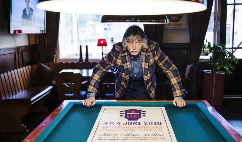 Johan Derksen presenteert een programma over zijn passie: de blues. Foto: Kim Balster