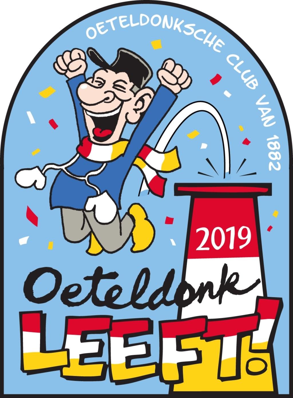Het nieuwe jaarembleem van de Oeteldonksche Club van 1882   © bosscheomroep.nl