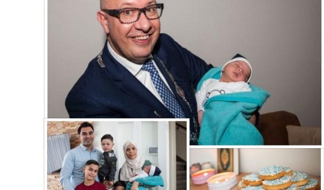 Wat een geluk! Mohammed werd op 1 januari om 4.50 uur geboren en is daarmee de eerste Eerste Bossche Baby van 2019. Foto's: Michel van de Langenberg