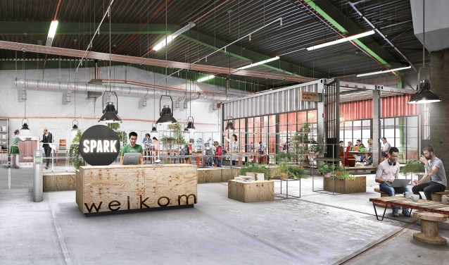 Artist Impression van de nieuwe SPARK Makerszone