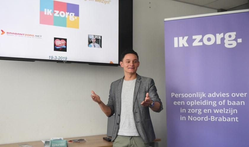 Jeroen Hellemons afgelopen week in Perron-3 in Rosmalen tijdens een IkZorg bijeenkomst  Foto: Henk van Esch