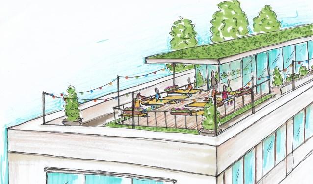 Artist Impression van het toekomstige Paviljoen Zuster van Sjim Grossfeld