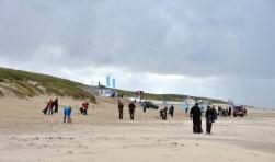 De Beach Cleanup op het Texelse strand in 2014.