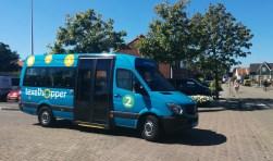 Een hopperbusje op de Elemert in Den Burg.