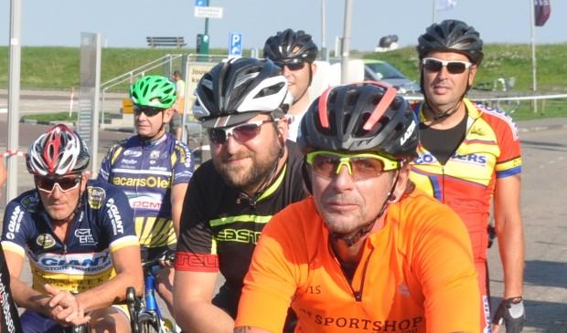 John Betsema, vorig jaar in de oranje trui tijdens de Ronde van Oudeschild.
