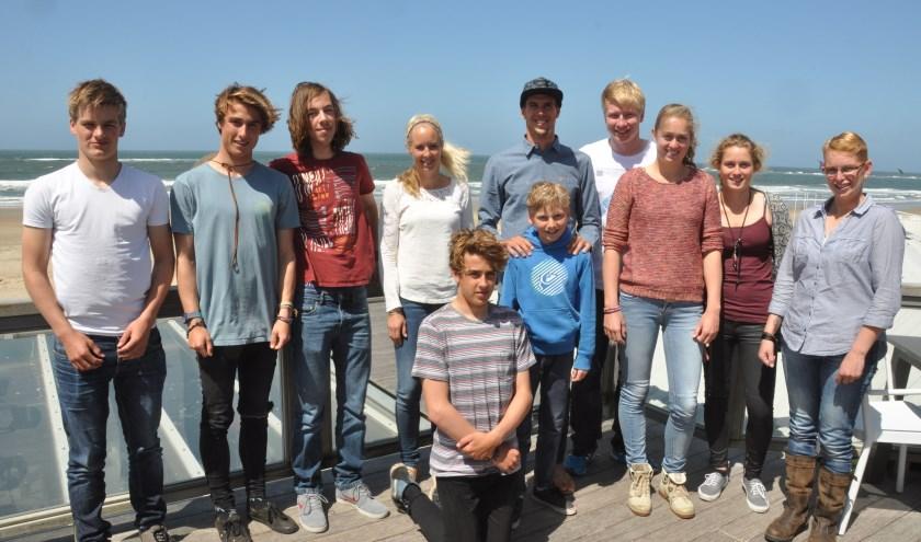 Dorian van Rijsselberghe met de Texelaars die zijn fonds steunt.