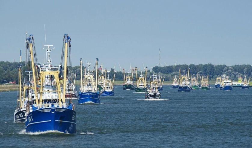 Vissersprotest dat eerder tegen de aanlandplicht werd gehouden.